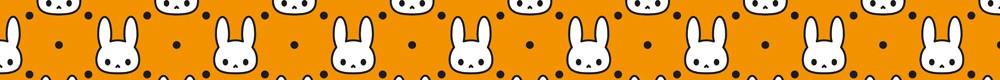 【パターン素材】オレンジ色背景のうさぎ
