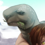 野生動物と親分の組み合わせの素晴らしさを-ゾウガメ編