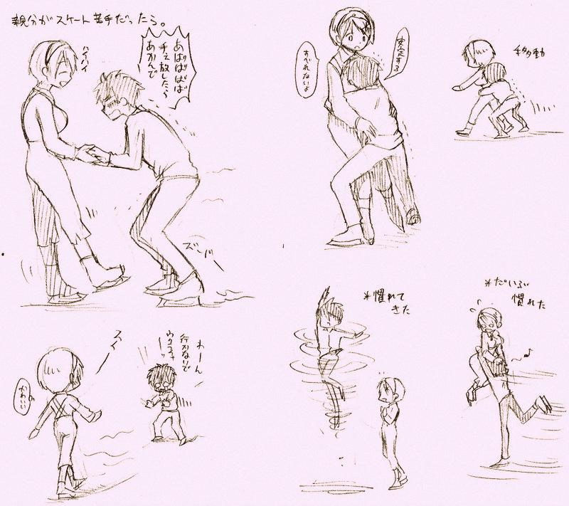 アイススケートする西ウクちゃん