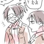 兵長お誕生-らくがき漫画(リヴァハン)