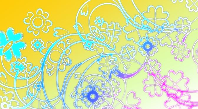 【クリスタ素材】ハートスワール散布ブラシと元画像